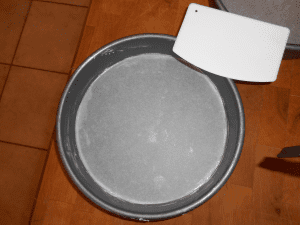 parchment lined nine inch cake pan