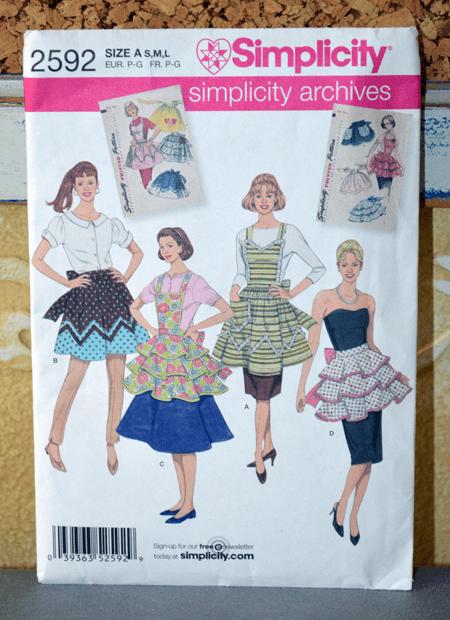 simplicity vintage apron pattern