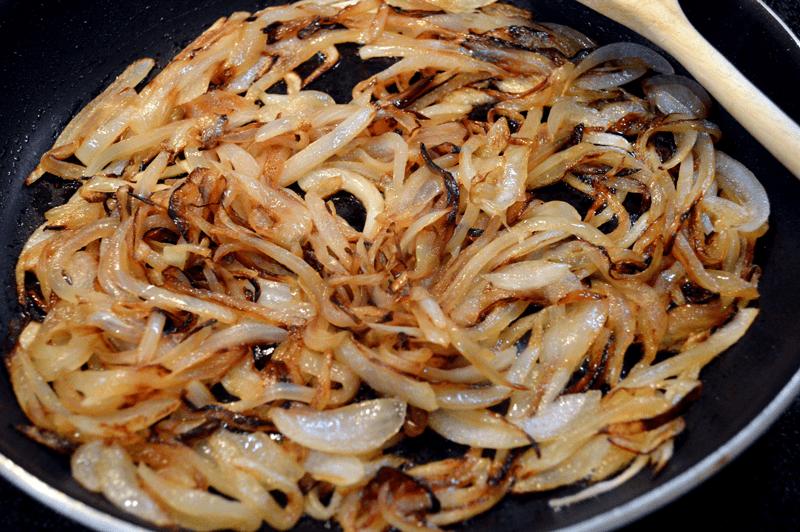grannie geek, caramelized onions