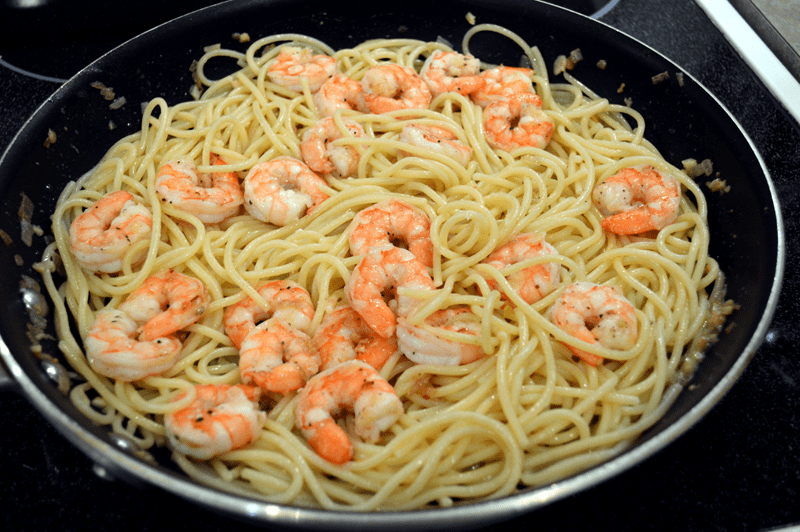 grannie geek, shrimp scampi
