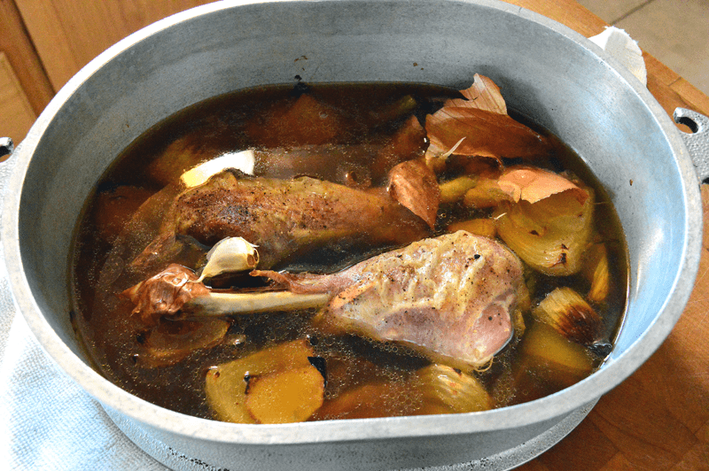 grannie geek, make ahead turkey gravy stock