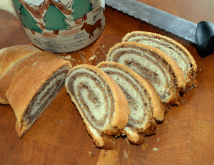 grannie geek, shirleys christmas walnut roll