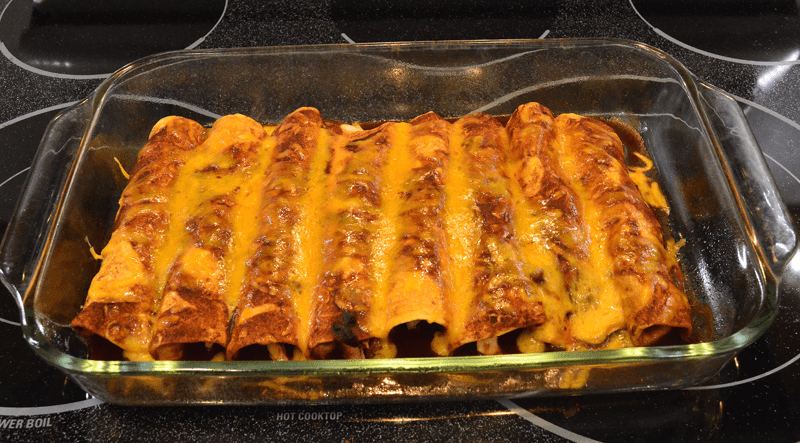 grannie geek, turkey enchiladas in mole