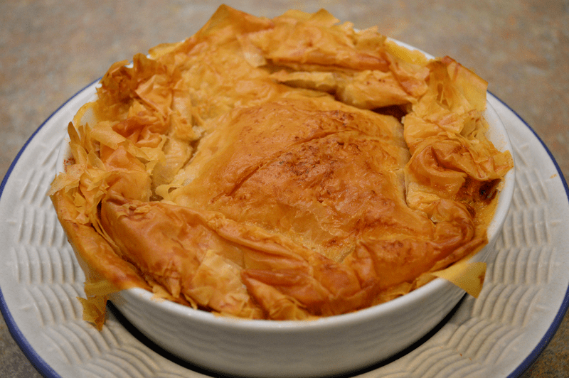 grannie geek, chicken pot pie with phyllo crust