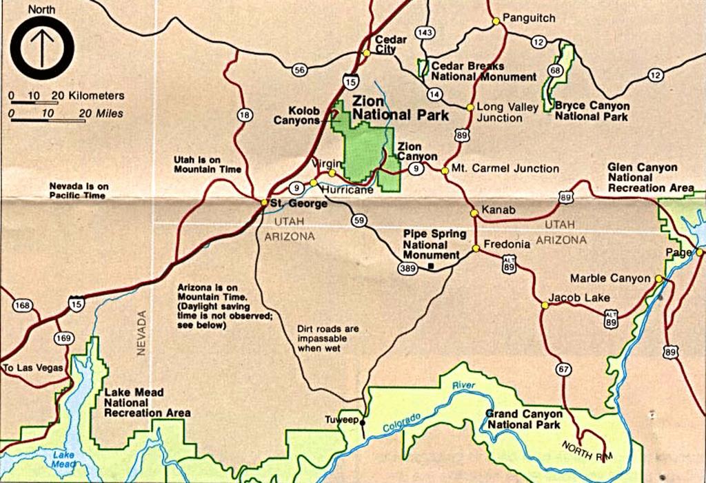 grannie geek zion national park surrounding area