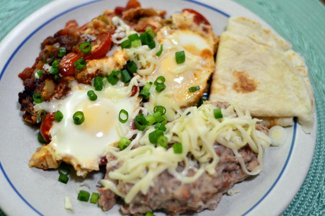at mimis table huevos rancheros with beans
