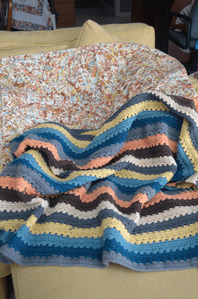 at mimi's table quick and cozy crocheted family room throw 4